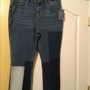 Kick boot crops jeans size 16